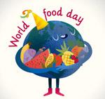 世界粮食日怀抱食物