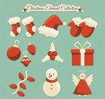 红色圣诞节图标