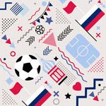 足球元素无缝背景