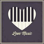 爱心钢琴键盘