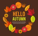秋季花环设计