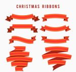 圣诞节丝带条幅