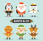 卡通圣诞节角色