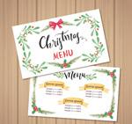 彩绘圣诞节菜单