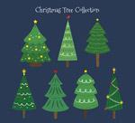 彩绘花纹圣诞树