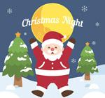 月夜的圣诞老人