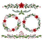 圣诞节花边和花环