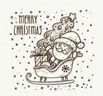 雪橇上的圣诞老人