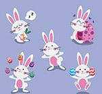 卡通白兔和彩蛋