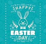兔子复活节贺卡