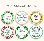 圆形婚礼花卉标签