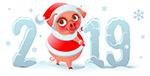 圣诞猪2019艺术字