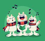 合唱的3只兔子