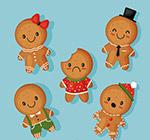 卡通圣诞节姜饼人