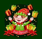 欢笑的圣诞精灵
