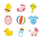 彩色婴儿用品图标