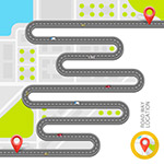 道路和地标信息图