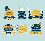 扁平化新年标签