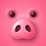 卡通粉色猪脸