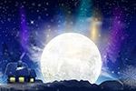 夜晚月亮风景