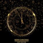新年时钟矢量