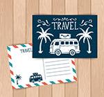旅行车明信片