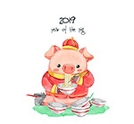 吃面条的小猪