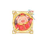 春节唐装小猪