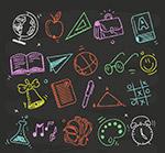 粉笔绘校园元素