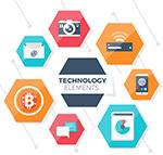 六边形科技元素