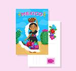 墨西哥女子明信片