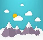 雪山风景剪贴画