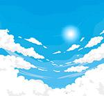 蓝色天空云朵风景