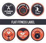 圆形健身元素标签