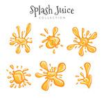 橙色动感液态果汁