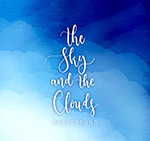 蓝色天空云朵