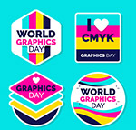 世界平面设计日标签