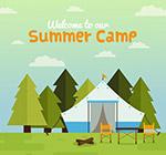 郊外野营帐篷
