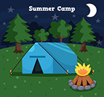 树林中的野营帐篷