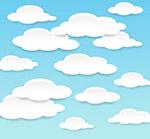 布满天空的云朵
