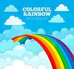 云层中的彩虹