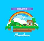彩虹下的风景