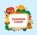 夏季野营元素框架