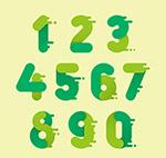 绿色双拼色数字