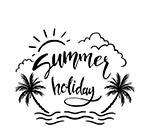 椰子树夏季艺术字