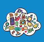 纸质社交媒体云朵