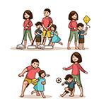 家庭活动场景