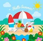 夏季沙滩旅行物品