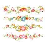 彩色花卉花边设计