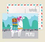秘鲁羊驼明信片